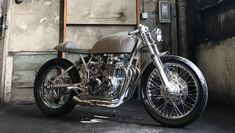 Grey Ghost CB550K Cafe Racer