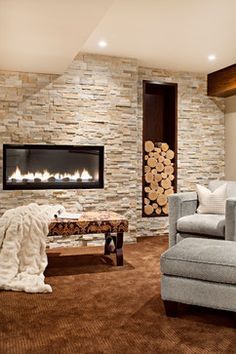 Basement Photos Fireplace Design, Pictures, Remodel, Decor and Ideas - page 5