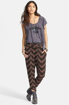 Free People 'San Tropez' Asymmetrical Graphic Tee available at #Nordstrom Does anyone know where I can buy these boots?