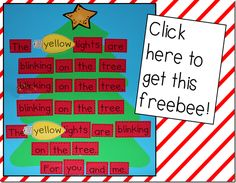 Christmas Tree Poem and Interactive Chart. Great for rhyming and print concepts.