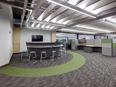 Milliken's In Color and The Basics Spectrum featured in Jadak Technologies in   North Syracuse, NY. Design by Design Specialists, Inc. #interiordesign #corporatedesign #interiordesign #flooring #floorcovering #carpet