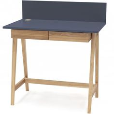 Luka Writing Desk 110cm Ragaba • WOO .Design Home Office, Wooden Drawers, Study Space, Cable Management, Writing Desk, Foot Rest, Furniture, Design, Home Decor
