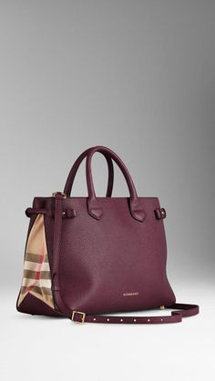 Burberry The Medium Banner In Leather And House Check - Sale! Shop at Stylizio for womens and mens designer handbags luxury sunglasses watches jewelry purses wallets clothes underwear Fashion Handbags, Purses And Handbags, Fashion Bags, Fashion Jewelry, Guess Handbags, Bowling Bags, Burberry Women, Burberry Handbags, Burberry Purse