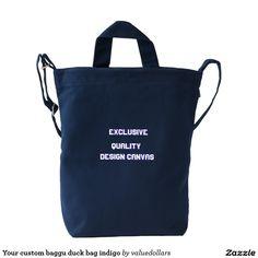 Your custom baggu duck bag indigo