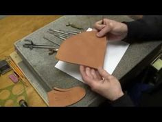 Leather Carving for Beginners Leathercraft Tutorial How to Draw and Transfer Pencil Design - YouTube