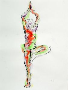 In my yoga drawings I seek to capture the unique beauty of the human body, oscillating between the static and the dynamic,the unity of the physical and the spiritual. The pieces included in the Yo…