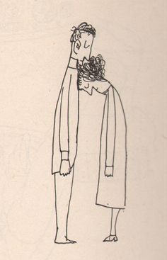 "I'm tired, babe Saul Steinberg, ""Kiss"", 1959."