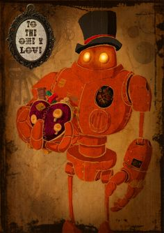 Steampunk Valentines Card by CapnDred on Etsy, £2.65