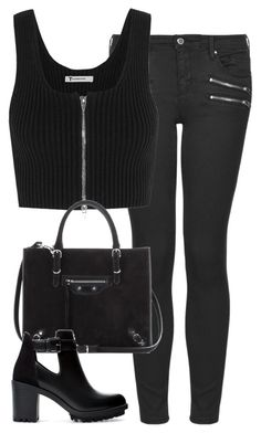 """""""Untitled #4593"""" by eleanorsclosettt ❤ liked on Polyvore featuring Topshop, T By Alexander Wang, Balenciaga and Zara"""