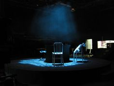 Testing out the lighting, DramaTech Theater The Pillowman by Martin McDonagh