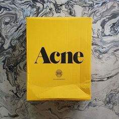 I love Acne Studios branding and packaging. It is exciting to get a yellow box (and then finding the classic pink envelope inside) — Designspiration Fashion Logo Design, Fashion Branding, Mode Logos, Graphic Design Fonts, Pink Envelopes, Collor, Logo Design Inspiration, Daily Inspiration, Creative Inspiration
