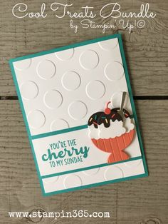 Hi friends! How are you today? Here is another card I created using the Cool Treats Bundle by Stampin' Up! Have I mentioned how much fun these ice cream dies are? Just look at the details on …