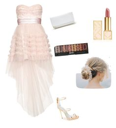 """Prom or homecoming"" by viv4540 ❤ liked on Polyvore featuring Yves Saint Laurent, GUESS, Giuseppe Zanotti and Tory Burch"
