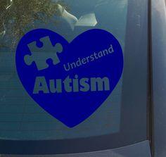 "6"" Autism Awareness Heart Vinyl Decal Sticker Donations Go to Autism Speaks | eBay $4.99 www.vinyldecaldepot.com"