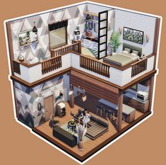 Sims House Plans, House Floor Plans, The Sims 4 Lots, Sims 4 House Design, Sims 4 Gameplay, Casas The Sims 4, Sims Building, Sims 4 Cc Furniture, Sims 4 Build