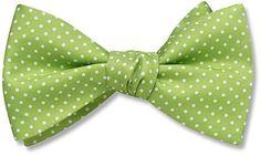 Apple Green Polka Dot Bow Ties from Beau Ties