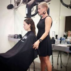 All sizes | I don't think she'll be leaving with long hair | Flickr - Photo Sharing! Pixie Bob Hairstyles, Blonde Haircuts, Pixie Haircut, Buzzcut Girl, Short Blonde Pixie, Edgy Pixie Cuts, Buzz Cut Women, Long Hair Cuts, Short Cuts