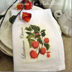 CONFESSIONS OF A PLATE ADDICT A Botanical Tea Towel for Fall and a Fabulous Surprise!