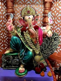 Make this Ganesha Chathurthi 2020 special with rituals and ceremonies. Lord Ganesha is a powerful god that removes Hurdles, grants Wealth, Knowledge & Wisdom. Jai Ganesh, Ganesh Lord, Ganesh Idol, Ganesh Statue, Shree Ganesh, Shri Ganesh Images, Ganesh Chaturthi Images, Ganesha Pictures, Happy Ganesh Chaturthi