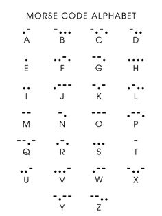 Morse Code Initial tattoo idea