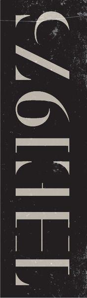 The 1975. (The year I was born.) Respectful typo design.