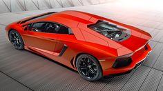 Lambo Aventador: red bull (no wings) - BBC Top Gear