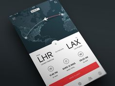 Just a concept for a flight tracker. Had some old design files lying around, so decided to slap a lick of paint on them.