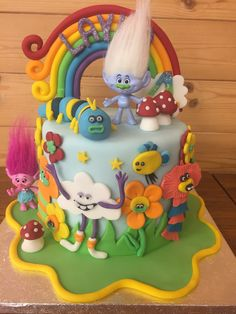 Trolls Cake @celebrationbakes #EJs Cakes Trolls Cake Birthday, Baby Birthday Cakes, Trolls Cakes, 2nd Birthday Party Themes, Troll Party, Dessert For Dinner, Themed Cakes, Ideas, Food