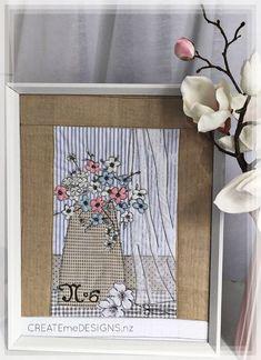Createme's shop | Felt Beading Ideas, Frame It, Summer Flowers, Fabric Art, Make It Simple, Stitching, Felt, Embroidery, Things To Sell