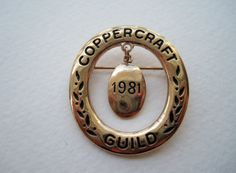 Vintage 1981 Historical Retro Coppercraft Guild Brooch Pin by ThePaisleyUnicorn, $3.00