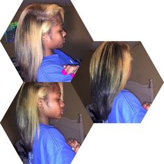 """I love my natural hair with this blonde and that hint of green."" - Jayda"