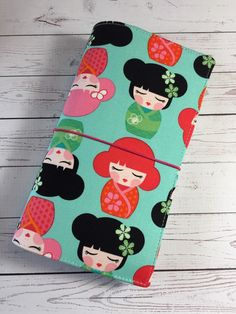 Fabric Traveler's Notebook - Fabric Fauxdori Traveller's Notebook Cover - Regular Size