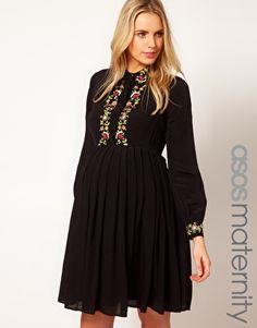 Enlarge ASOS Maternity Shirt Dress With Floral Embroidery