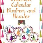 It is the season of giving, so I whipped up some fun calendar numbers for you to display or to use for any working with numbers activities you have...