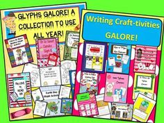 50% Off-Glyphs and Writing Craftivities Galore SUPER BUNDLE! 130 pgs. from EngagingLessons on TeachersNotebook.com - - Glyphs and Writing Craftivities Galore SUPER BUNDLE!