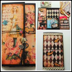 Alice In Wonderland Themed snail mail booklet