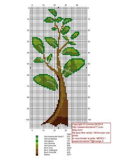Long shaft Cross Stitch Tree, Cross Stitch Flowers, Cross Stitch Charts, Blackwork Embroidery, Cross Stitch Embroidery, Modern Cross Stitch Patterns, Cross Stitch Designs, Canvas Template, Crochet Tree