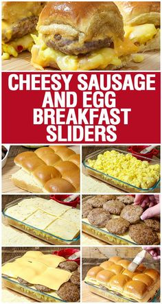 Cheesy Sausage and Egg Breakfast Sliders are a fully loaded perfectly portable h. - Cheesy Sausage and Egg Breakfast Sliders are a fully loaded perfectly portable hand held breakfast. Breakfast And Brunch, Breakfast Slider, Breakfast Dishes, Breakfast Tailgate Food, Breakfast Ideas With Eggs, Breakfast Sandwich Recipes, Breakfast Appetizers, Easy Brunch Recipes, Camping Breakfast