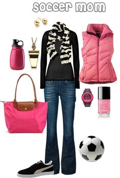 """""""Soccer Mom"""" by sgcurtis ❤ liked on Polyvore"""