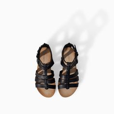 Image 2 of LEATHER ROMAN STRAPPY SANDAL from Zara