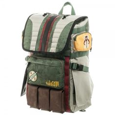 Star Wars: Boba Fett Laptop Backpack Fits a 15 inch laptop in the laptop sleeve, lots of extra pockets Just arrived