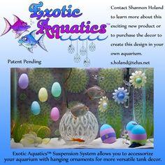 Exotic Aquatics™ Designer Aquarium featuring the Extotics Aquatics™ Suspension System by Shannon Holand Designs https://www.facebook.com/DesignerAquariums/ #ExoticAquatics#DesignerAquariums#Aquariums#FishTanks