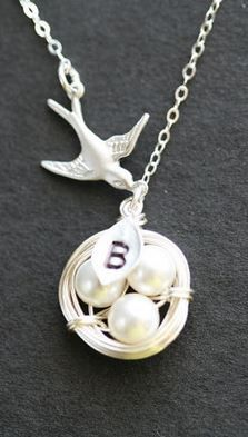 I want to get this nest necklace with the baby's first name initial (as soon as there is a baby to name...)