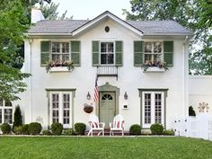 29 Ideas exterior house colors white shutters curb appeal for 2019 Exterior Color Palette, Exterior Paint Colors For House, Paint Colors For Home, Exterior Colors, House Shutter Colors, Siding Colors, White Exterior Houses, Exterior Siding, White Houses