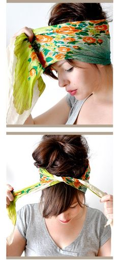 How To: Tie A Hair Scarf