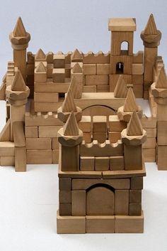 деревянный конструктор, замок Wooden Toy Castle, Wooden Car, Puzzle Box, Wooden Puzzles, Wood Toys, Diy Toys, Wood Blocks, Educational Toys, Kids And Parenting