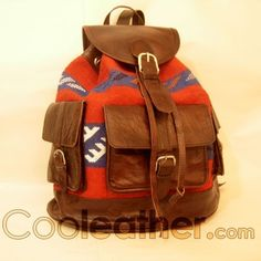 MyMate Backpack - Brown Leather Large Backpack 14 laptop