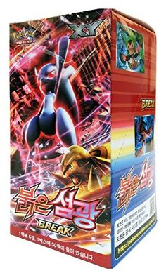 Pokemon Card XY8 Booster Pack Box 30 Packs in 1 Box RED FLASH Korea Version TCG >>> You can get more details at