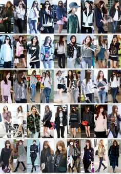 SNSD Yoona Airport Fashion Collection 2014 January- December