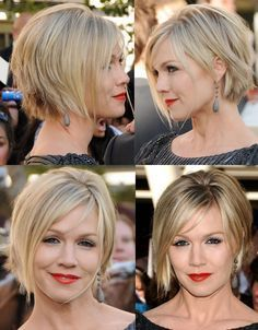 Jennie Garth New Short Haircut | Jennie Garth short hair cut & color. NICE,